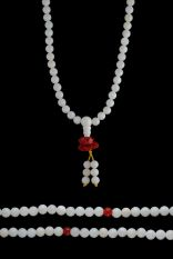 Pearl Shell Mala w/ Lotus 6mm