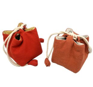 Linen square shape bag