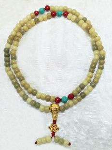 Bodhi root mala (8 x 7 mm)