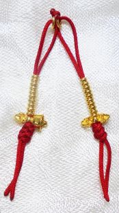 24K Sterling Gold vajra & bell counter(s)